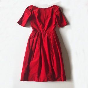 Vintage 50s Red Velvet Party Dress Fit & Flare
